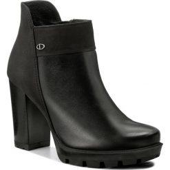Botki LASOCKI - CARRERA-06 Czarny. Czarne buty zimowe damskie Lasocki, z nubiku, na obcasie. Za 229,99 zł.