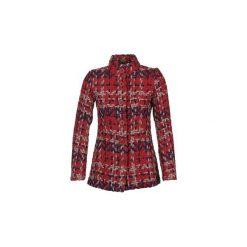 Płaszcze Desigual  POURTO. Czerwone płaszcze damskie Desigual. Za 552,30 zł.