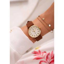 Zegarki damskie: Brązowo-Złoty Zegarek Classic Timer