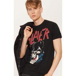 T-shirt Slayer - Czarny. Czarne t-shirty męskie marki KIPSTA, z poliesteru, do piłki nożnej. Za 49,99 zł.