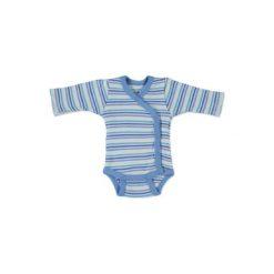 Fixoni  Boys Body dziecięce kolor biały-niebieski. Niebieskie body niemowlęce Fixoni, z bawełny, z długim rękawem. Za 49,00 zł.