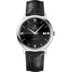ZEGAREK OMEGA DE VILLE 424.13.40.20.01.001. Czarne zegarki męskie OMEGA, ze stali. Za 12800,00 zł.