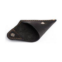 2 w 1 Portfel Slim Wallet + bilonówka BRODRENE Czarny. Czarne portfele męskie marki Brødrene, w paski, ze skóry. Za 119,00 zł.