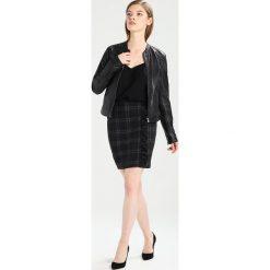 Minispódniczki: Dorothy Perkins CHECK RUFLE MINI Spódnica ołówkowa  black