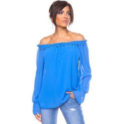 """Bluzki, topy, tuniki: Bluzka """"Perle"""" w kolorze niebieskim"""