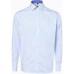 Eterna Modern Fit - Koszula męska – niewymagająca prasowania, niebieski. Niebieskie koszule męskie na spinki Eterna Modern Fit, m, w paski, z bawełny, z klasycznym kołnierzykiem. Za 199,95 zł.
