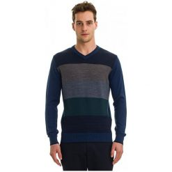 Galvanni Sweter Męski Dilbeek M, Ciemnoniebieski. Czarne swetry klasyczne męskie GALVANNI, m, w paski, z wełny. W wyprzedaży za 299,00 zł.