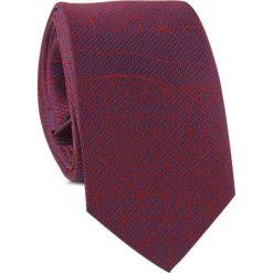 Krawat KWAR001454. Czerwone krawaty męskie Giacomo Conti, z aplikacjami, z tkaniny. Za 69,00 zł.