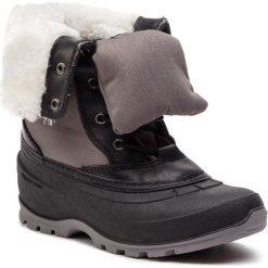 Śniegowce KAMIK - Harper2 NK2177 Charcoal. Czarne buty zimowe damskie Kamik, z materiału. W wyprzedaży za 349,00 zł.