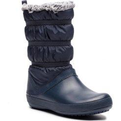Śniegowce CROCS - Crocband Winter Boot W 205314 Navy. Niebieskie buty zimowe damskie marki Crocs, z materiału. W wyprzedaży za 219,00 zł.
