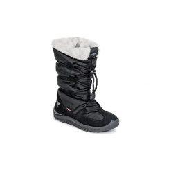 Śniegowce Kangaroos  PUFFY III JUNIOR. Czarne buty zimowe damskie KangaROOS. Za 216,30 zł.