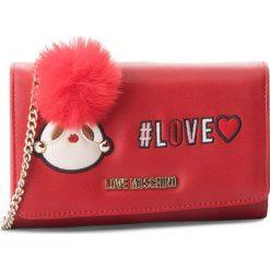 Duży Portfel Damski LOVE MOSCHINO - JC5537PP16LK0500  Rosso. Czerwone portfele damskie Love Moschino, ze skóry ekologicznej. W wyprzedaży za 369,00 zł.