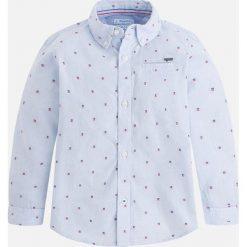 Mayoral - Koszula dziecięca 92-134 cm. Szare koszule chłopięce z długim rękawem marki Mayoral, z bawełny, z włoskim kołnierzykiem. Za 99,90 zł.