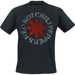 Red Hot Chili Peppers Stencil Black T-Shirt czarny. Czarne t-shirty męskie z nadrukiem Red Hot Chili Peppers, m. Za 74,90 zł.