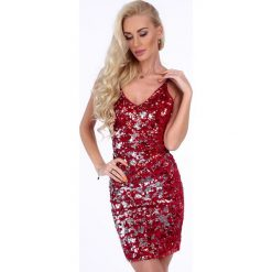 Czerwona sukienka dopasowana 4248. Białe sukienki marki Fasardi, l. Za 139,00 zł.