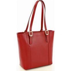 Shopper bag damskie: Torebka na ramię skórzana MARCO MAZZINI czerwony