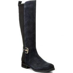 Oficerki TOMMY HILFIGER - Tessa 3C FW0FW01434 Midnight 403. Czarne buty zimowe damskie marki TOMMY HILFIGER, z materiału, z okrągłym noskiem, na obcasie. W wyprzedaży za 449,00 zł.