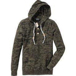 Swetry męskie: Sweter Slim Fit bonprix ciemnooliwkowy melanż