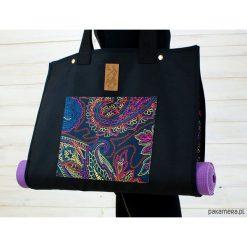 Torba na akcesoria do jogi/Indian #3. Czarne torebki klasyczne damskie Pakamera, z tkaniny, duże. Za 239,00 zł.