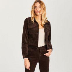 Sztruksowa kurtka - Brązowy. Brązowe kurtki damskie marki Reserved, ze sztruksu. W wyprzedaży za 79,99 zł.