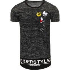 T-shirty męskie z nadrukiem: T-shirt męski z nadrukiem grafitowy (rx1774)