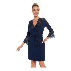 Szlafrok Stella Dark Blue. Niebieskie szlafroki kimona damskie Donna. Za 141,90 zł.