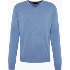 Andrew James - Sweter męski z czystego kaszmiru, niebieski. Niebieskie swetry klasyczne męskie Andrew James, l, z kaszmiru, z dekoltem w serek. Za 549,95 zł.