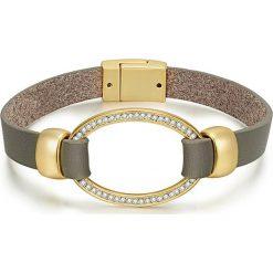 Biżuteria i zegarki: Pozłacana bransoletka z kryształkami