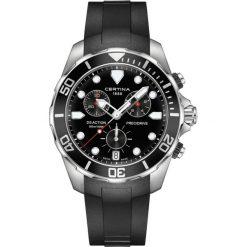 RABAT ZEGAREK CERTINA DS Action Gent Chrono C032.417.17.051.00. Czarne zegarki męskie marki CERTINA, ze stali. W wyprzedaży za 2587,20 zł.