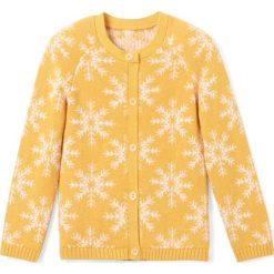 Swetry dziewczęce: Sweter rozpinany w płatki śniegu 3-12 lat