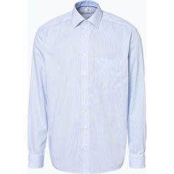 OLYMP Luxor comfort fit - Koszula męska niewymagająca prasowania, niebieski. Niebieskie koszule męskie na spinki OLYMP Luxor comfort fit, m, w paski. Za 199,95 zł.