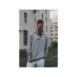 Bluza Hoodie Classic Ashen Gray. Szare bluzy męskie rozpinane marki Button. Za 219,00 zł.