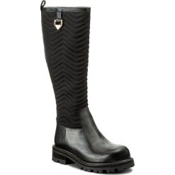 Kozaki TWINSET - Stivale CA7TB3 Nero 00006. Czarne buty zimowe damskie marki Twinset, z materiału, na obcasie. W wyprzedaży za 749,00 zł.