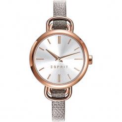 Zegarek kwarcowy w kolorze szaro-srebrno-różowozłotym. Szare, analogowe zegarki damskie Esprit Watches, ze stali. W wyprzedaży za 272,95 zł.