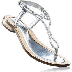 Sandały skórzane bonprix srebrny. Szare rzymianki damskie bonprix. Za 99,99 zł.