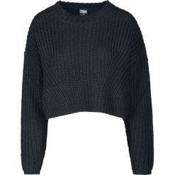 Urban Classics Ladies Wide Oversize Sweater Sweter z dzianiny czarny. Czarne swetry oversize damskie Urban Classics, xs, z dzianiny. Za 121,90 zł.