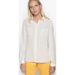 Bluzki damskie: Bluzka koszulowa z krepy z długim rękawem