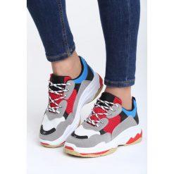 Szaro-Czerwone Buty Sportowe Boomerang. Szare buty sportowe damskie marki Born2be. Za 99,99 zł.