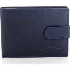 Portfele męskie: DARIEL Elegancki skórzany portfel męski Bag Street w pudełku Niebieski