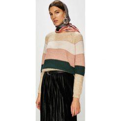 Only - Sweter. Szare swetry klasyczne damskie ONLY, l, z dzianiny, z okrągłym kołnierzem. W wyprzedaży za 99,90 zł.