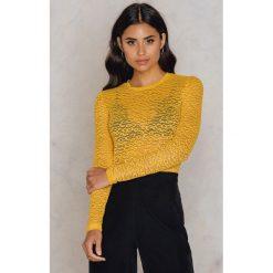 T-shirty damskie: Samsoe & Samsoe T-shirt Tracy – Yellow,Gold