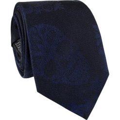 Krawat jedwabny KWGR000222. Czarne krawaty męskie marki Giacomo Conti, z jedwabiu. Za 129,00 zł.