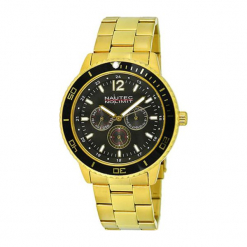 """Zegarek """"GLACQZGDGDBK"""" w kolorze złoto-czarnym. Czarne, analogowe zegarki męskie marki Dugena & Nautec No Limit, ze stali. W wyprzedaży za 269,95 zł."""