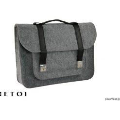 Torebki klasyczne damskie: Filcowa torba na ramię z eko skórą