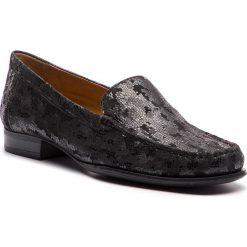 Mokasyny CAPRICE - 9-24250-21 Black Foil 060. Czarne mokasyny damskie Caprice, ze skóry ekologicznej. W wyprzedaży za 189,00 zł.