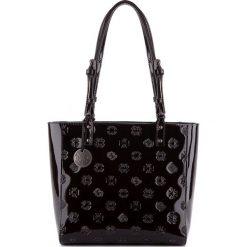 Torebka damska 34-4-001-1L. Czarne torebki klasyczne damskie Wittchen, z tłoczeniem. Za 699,00 zł.