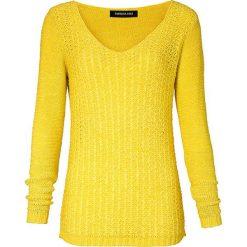 Swetry klasyczne damskie: Sweter w kolorze żółtym