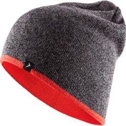 Czapka męska CAM609 - głęboka czerń  melanż - Outhorn. Brązowe czapki zimowe męskie Outhorn. Za 29,99 zł.
