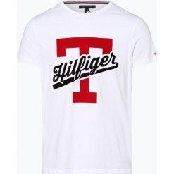 Tommy Hilfiger - T-shirt męski, czarny. Szare t-shirty męskie z nadrukiem marki TOMMY HILFIGER, z bawełny. Za 179,95 zł.