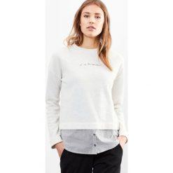 Bluzy rozpinane damskie: Bluza z długim rękawem i koszula w paski